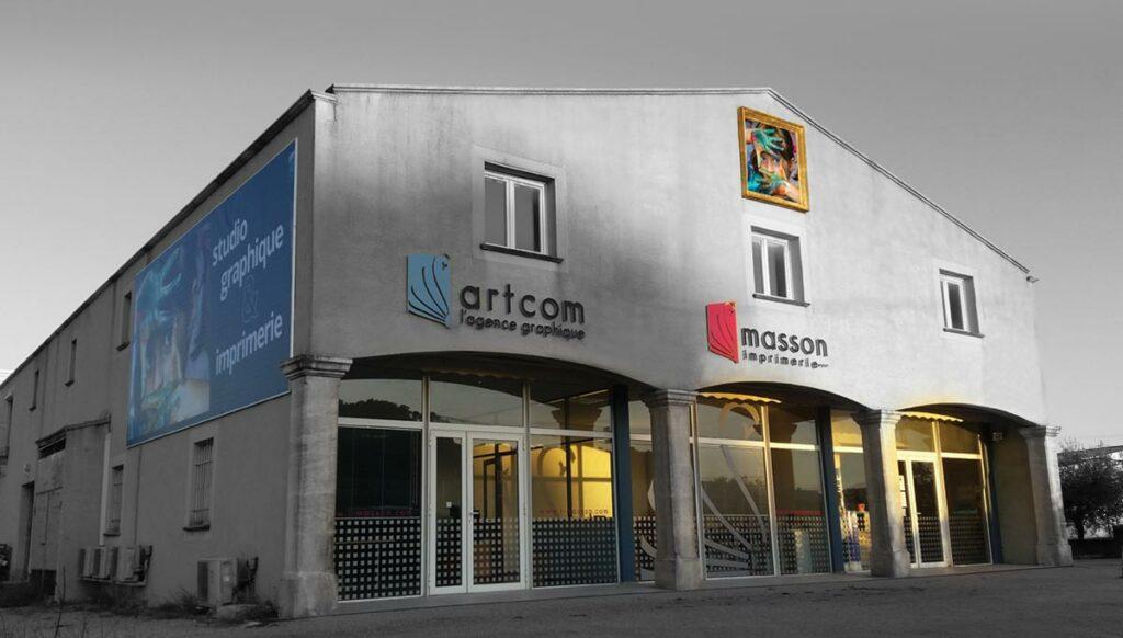 Bâtiment d'imprimerie à Salon de Provence