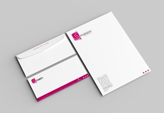 Entête de lettre de l'imprimerie de Salon en Provence